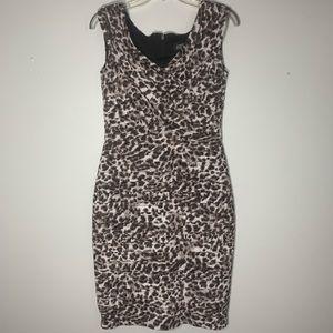 Adrianna Papell Animal Print Sleeveless Midi Dress